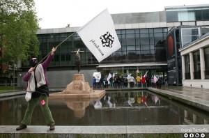 Acción Asalta del colectivo Plataforma A en el Día Internacional de los Museos en Bilbao en 2013. Foto Diana Terceño