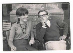 IDOIA ESTORNES Y ALVARO DE LA TORRE HACIA 1965. Alvaro de la Torre