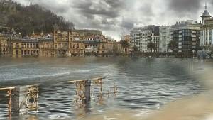Recreación de Donostia. Greenpeace.
